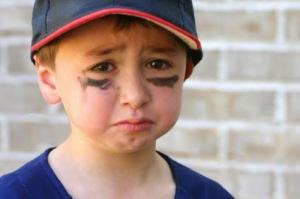 Little boy cry Sporty